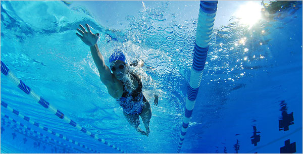 swimming lose weight La velocidad en natacion